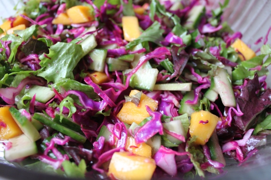 Lively Cabbage and Mango Slaw