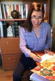Jen in her home office. (2017)
