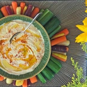 Veggies with Homemade Hummus