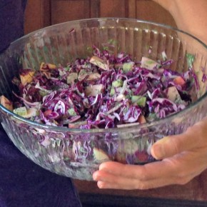 Purple Cabbage Apple and Dill Salad