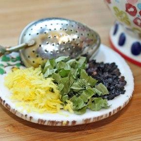 Lemon Elderberry Tea with Stevia Leaf