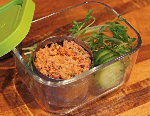 Wild Salmon Salad with Veggies